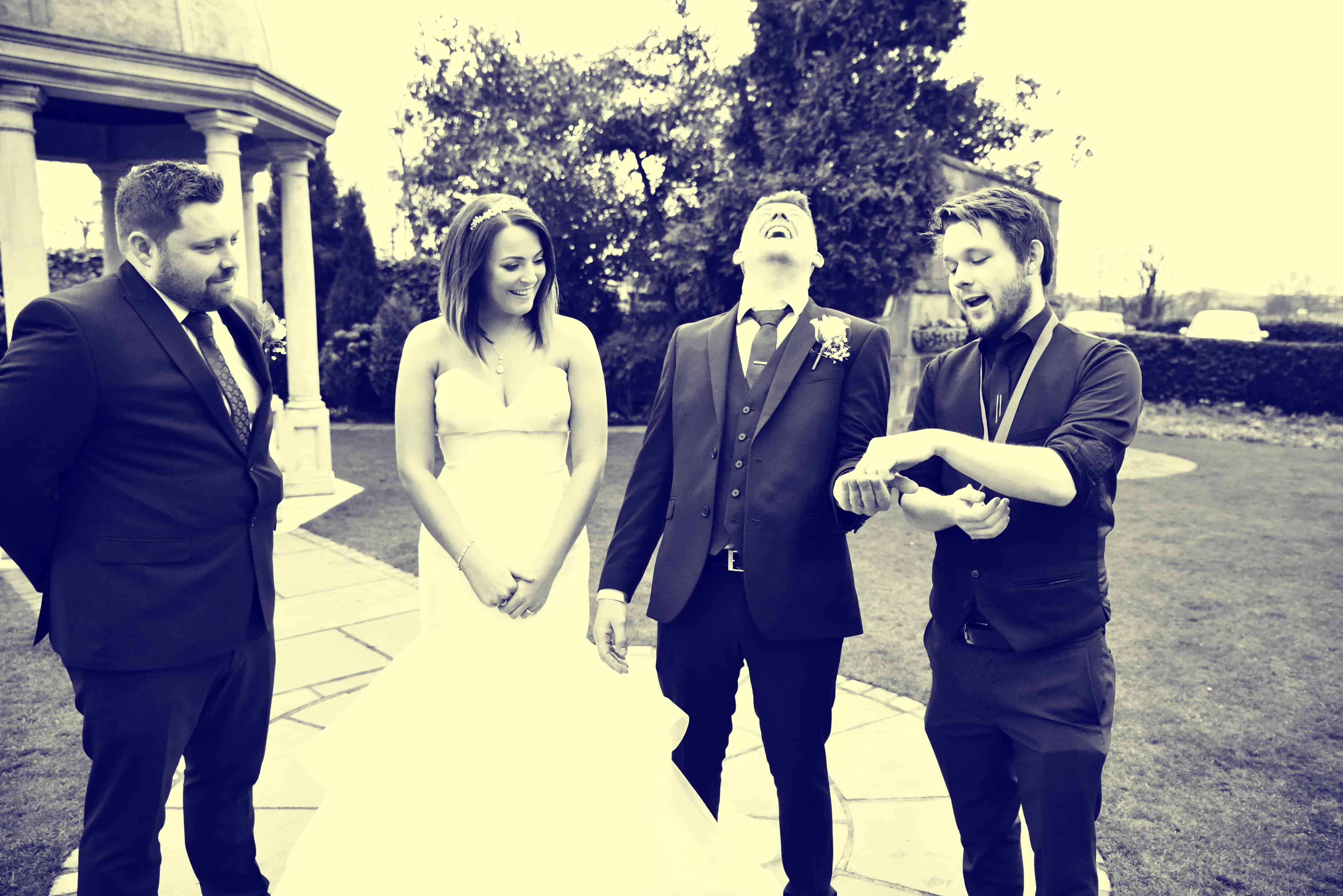 Live reactions from Professional magician Greg Holroyd performing wedding magic in Leeds