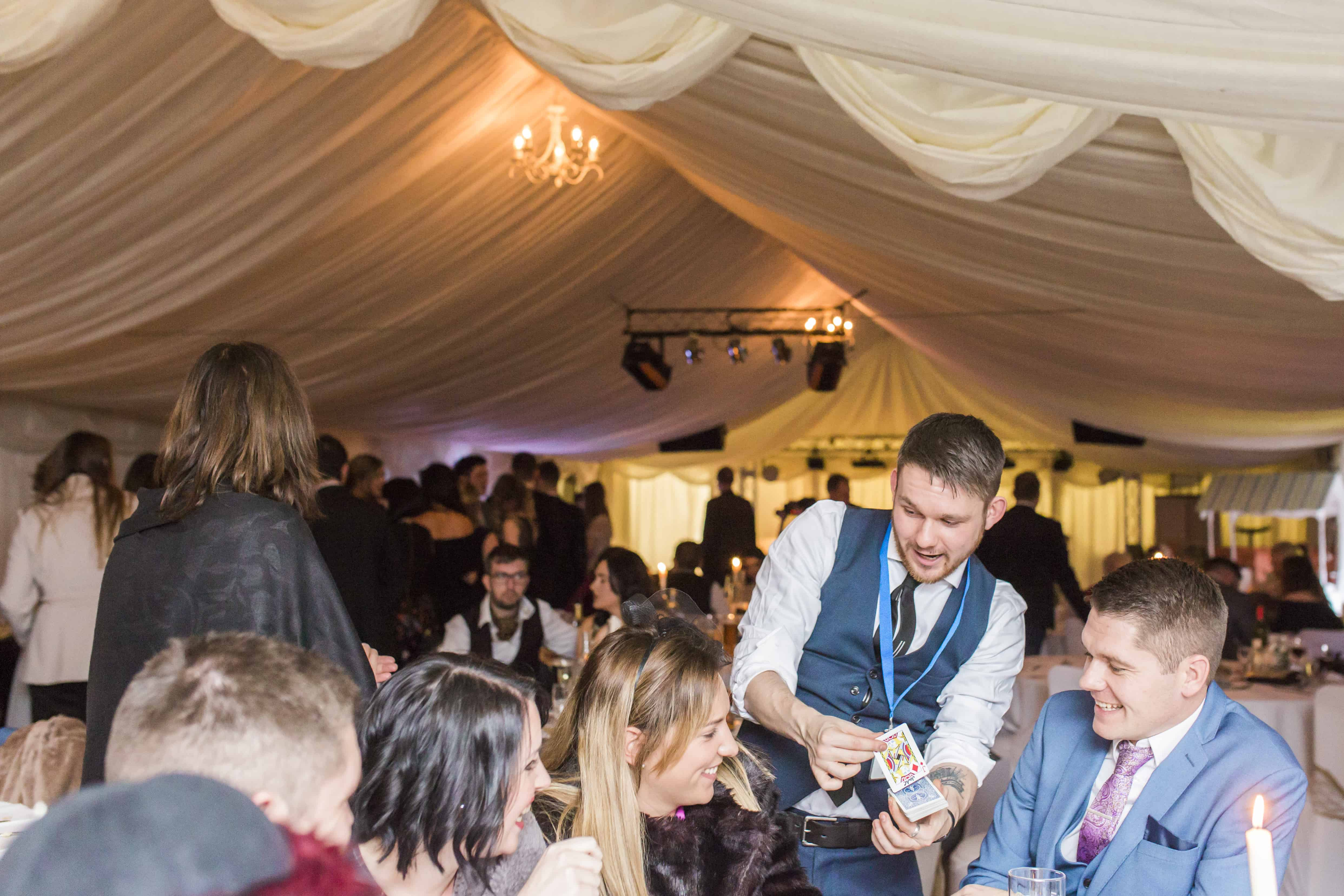 Performing close-up magic for private party in Leeds